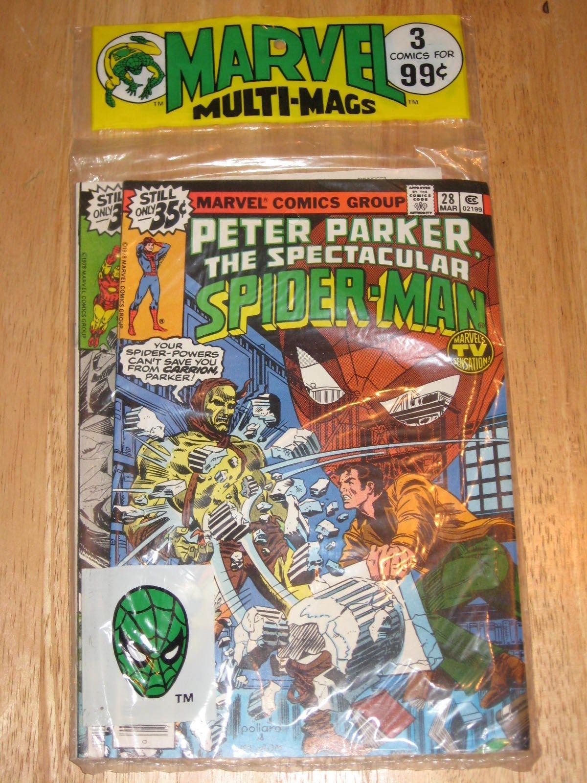 1978 Marvel Multi-Mags Peter Parker 28 Fantastic Four 204 Iron Man 120 Sealed MT