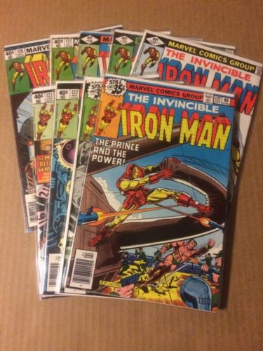 Iron Man #120-128 Nice Grade Demon In A Bottle Story Complete Set