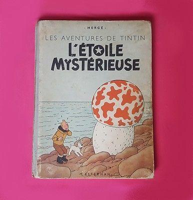 Tintin l'étoile mystérieuse B1 | 1946 | Papier épais | Bon état | Rare