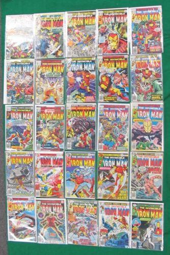 25 MARVEL INVINCIBLE IRON MAN COMIC BOOKS COMPLETE RUN 101-125 BRONZE... Lot 132