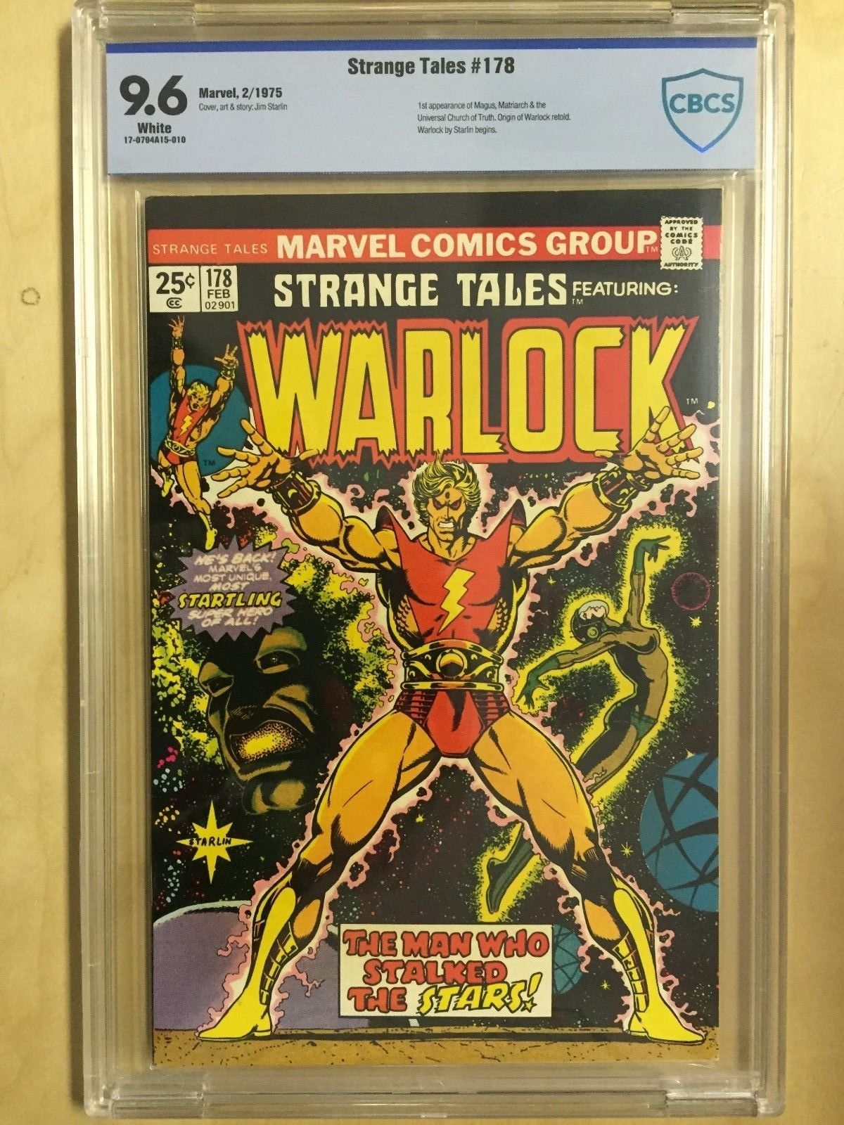 Strange Tales  178    CBCS  Graded  9.6  Warlock    Origin Retold    1975 Marvel