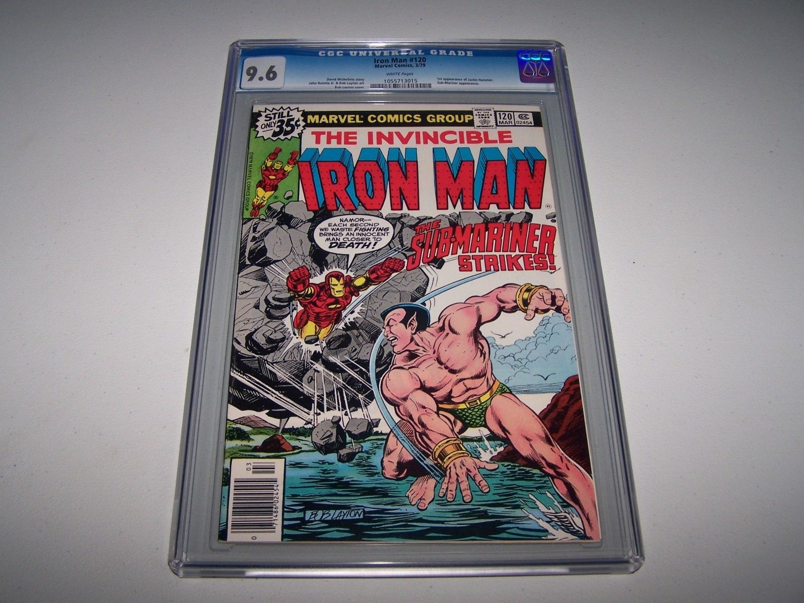 Iron Man #120 CGC 9.6 White Pages   KEY   *1st Justin Hammer*   TAKING OFFERS