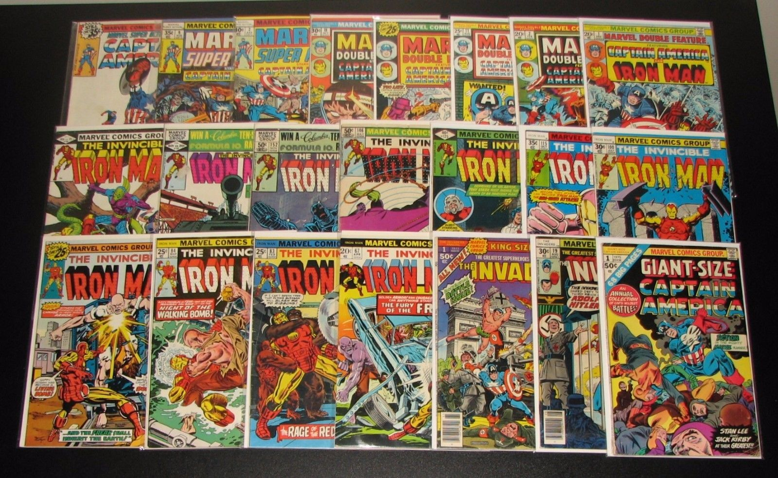 Captain America Iron Man HUGE Bronze lot w/ Iron Man 100 Marvel Double Feature 1