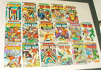 % 1977-1980 MARVEL THE INVINCIBLE IRON MAN COMIC BOOK COLLECTION  LOT Y-22