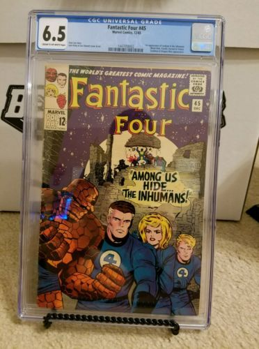 Fantastic Four 45 CGC 6.5 First app Black Bolt and Inhumans