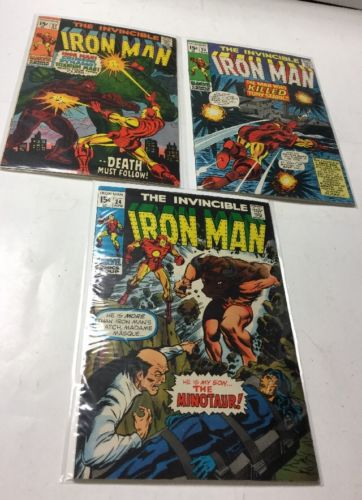The Invincible Iron Man 22 23 24 25 26 27 32  Vg-Fn Very Good-Fine 4.0-6.0