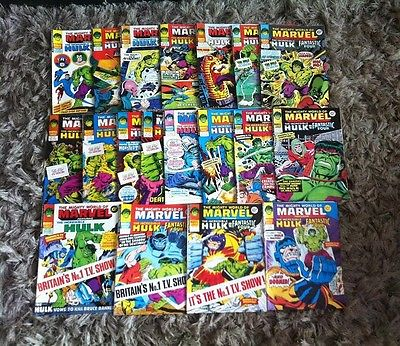 The Mighty World Of Marvel. 1970's UK Comics. 20 Issues #300 to #319. Sale 3.