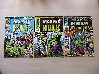 Mighty World of Marvel # 197,198,199 (1976) comics 1st app Wolverine UK version
