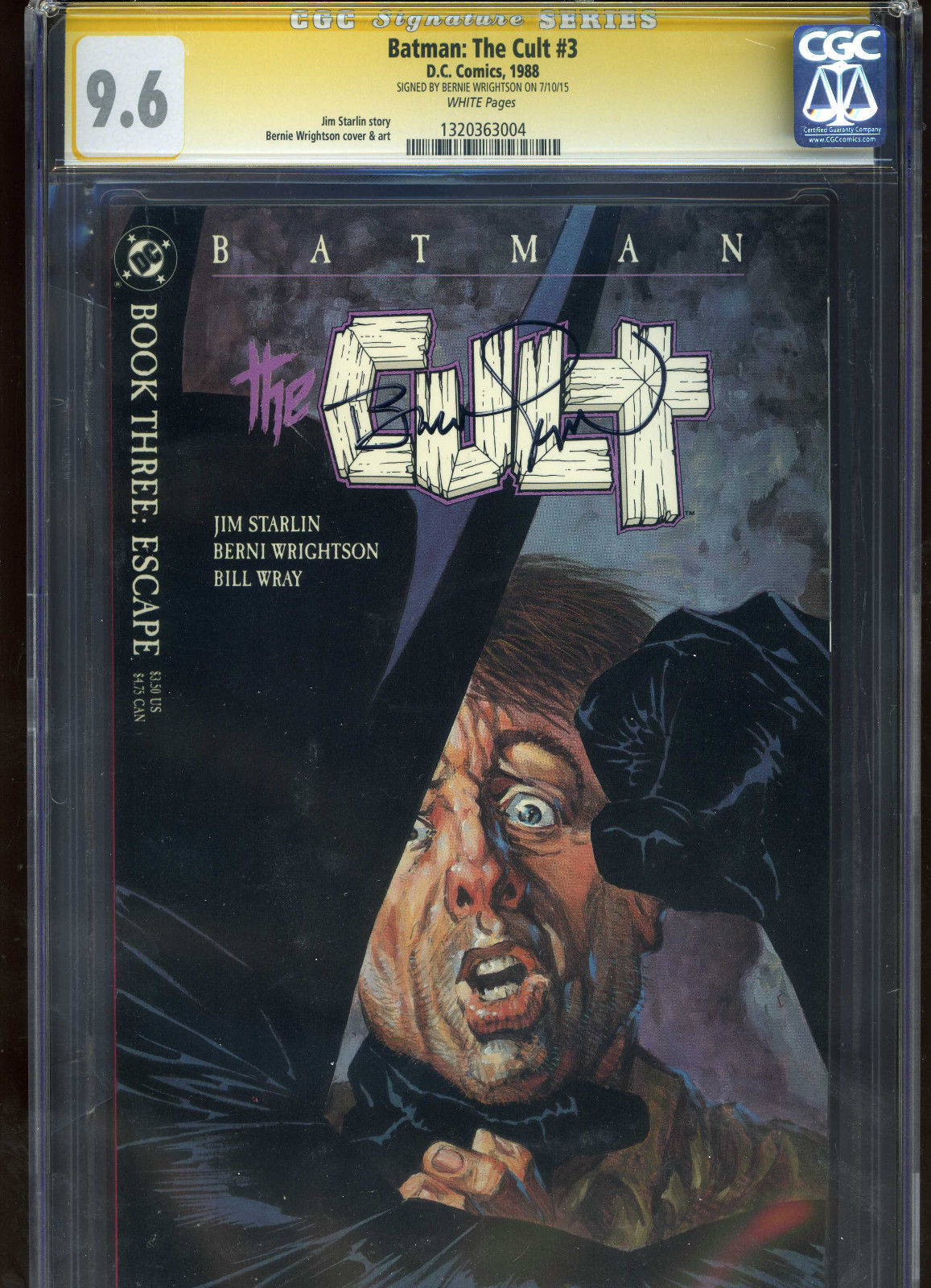 Batman: The Cult #3 CGC 9.6 SS Bernie Wrightson signed autograph