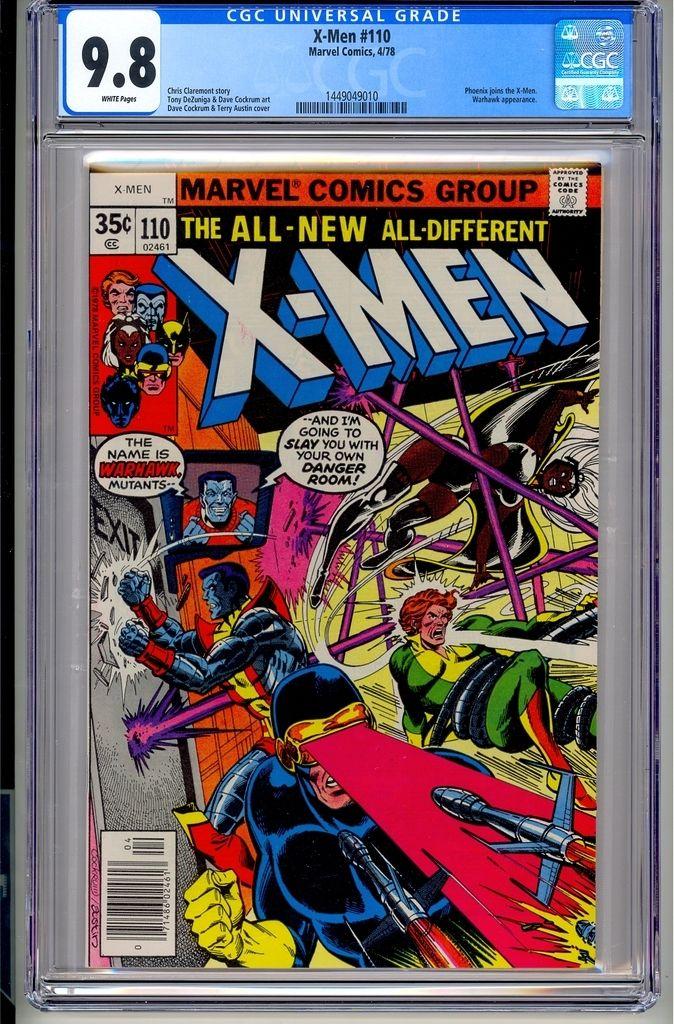 UNCANNY X-MEN #110  CGC 9.8  WP  Marvel Comics 4/78 John Byrne Wolverine Magneto