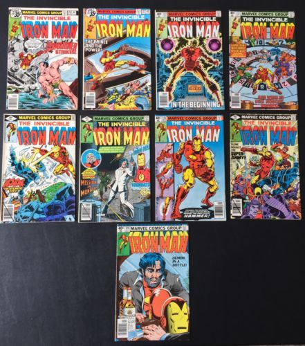 IRON MAN 120-128 FULL RUN DEMON IN A BOTTLE KEY LEGENDARY STORYLINE