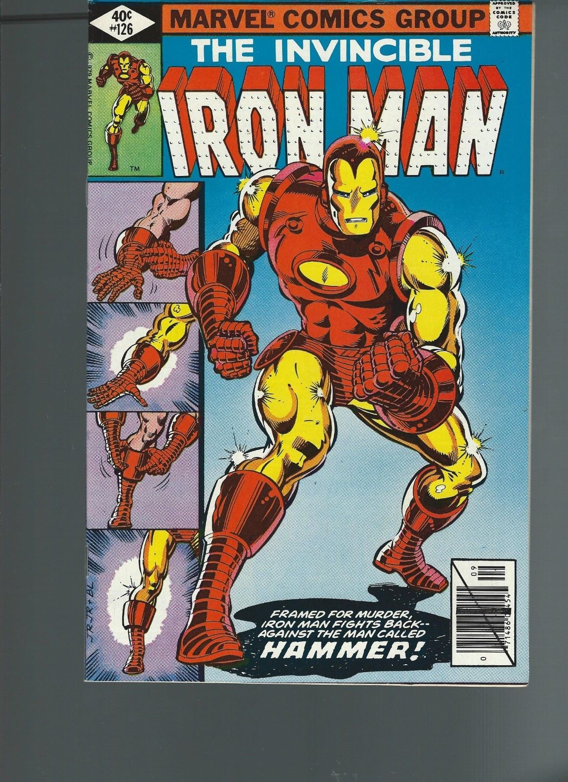 Iron Man #126 (Sep 1979, Marvel) VF/NM 9.0/9.2 Classic Tony Stark/Iron Man