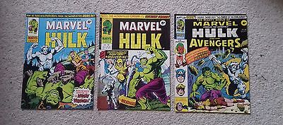 Mighty World of Marvel # 197,198,199 (1976) comics 1st app Wolverine UK version