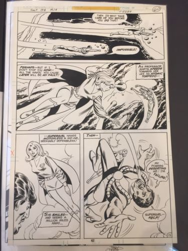 Superman Family 194 Page Featuring Supergirl In Action Heck/Giella 1978