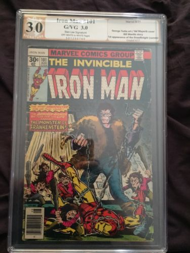Iron Man 101 Signed By Stan Lee Pgx 3.0 Cgc