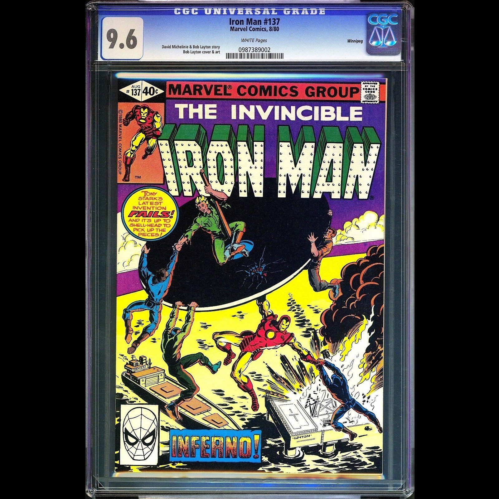 IRON MAN #137 CGC 9.6 WINNIPEG PEDIGREE SPIDER MAN DEADPOOL WOLVERINE AVENGERS