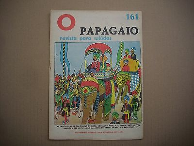 RARE - 1938 - Tintin Cigares - Papagaio #161 - First Time Colored - Portuguese