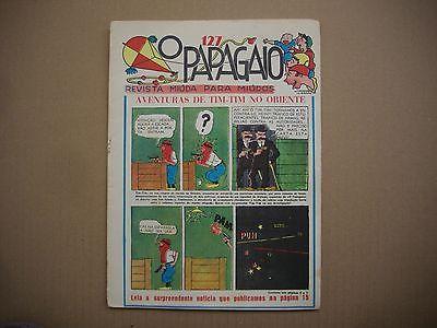 RARE - 1937 - Tintin Cigares - Papagaio #127 - First Time Colored - Portuguese