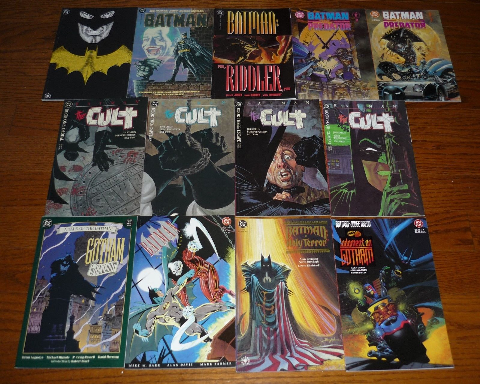 Lot of 13 Batman deluxe Comic Books The Cult # 1-4, Holy Terror, +++ Squarebound
