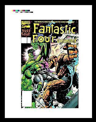 Claudio Castellini Fantastic Four Unlimited #4 Rare Production Art Cover