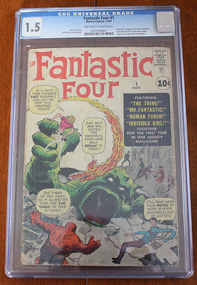 FANTASTIC FOUR #1 (MARVEL '61) CGC 1.0 * ORIGIN & 1ST APP FANTASTIC 4