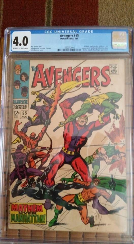 3 Avengers CGC Slabs for $150  Avengers 55 (1st Ultron) Avengers 58 Avengers 79