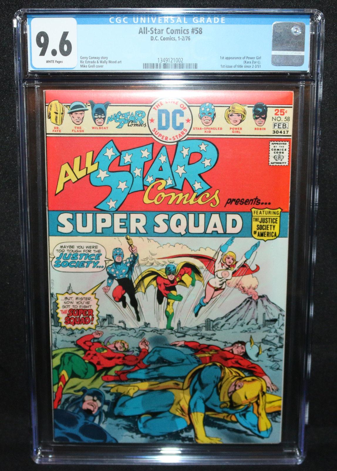 All-Star Comics #58 - 1st App of Power Girl - CGC Grade 9.6 - 1976