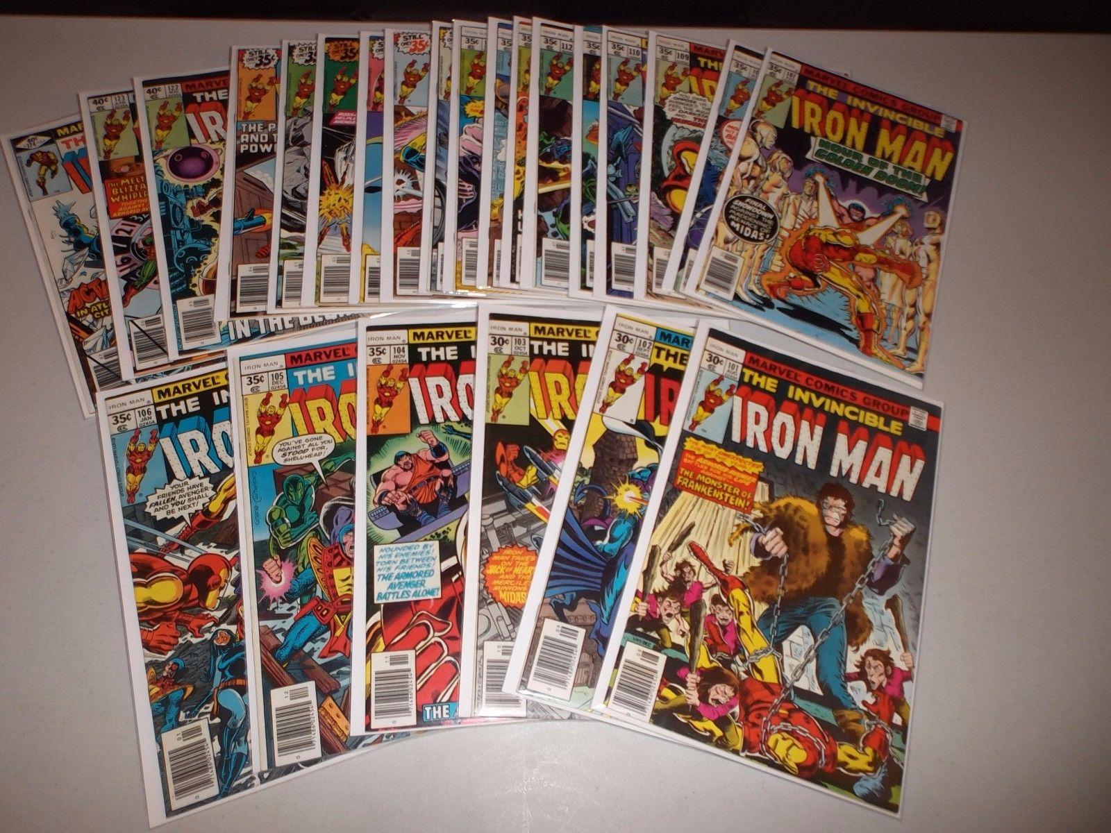 Iron Man #101-124 (Complete run of 24) 118 1st Jim Rhodes, 105 106 116 119 120