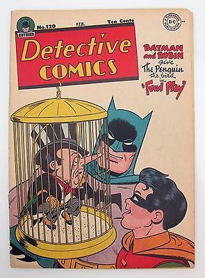 Detective Comics #120 (VG/F) 5.0 Golden Age Batman DC, Penguin Cover