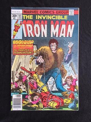 Iron Man #101 MARVEL 1977 - NEAR MINT 9.8 NM -1st app Dreadknight- Frankenstein