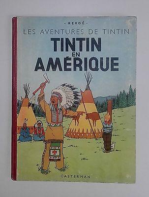 Tintin - TINTIN EN AMERIQUE - EO couleurs B1 - Casterman 1946 B.E.