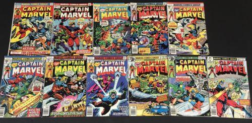 Captain Marvel 30 31 46 50 51 52 57 58 60 61 62 Thanos Avengers Jim Starlin F/VF