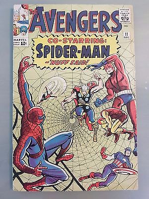 Avengers #11 Key Spider-Man issue looks to be Fine+?  6.5 CGC it