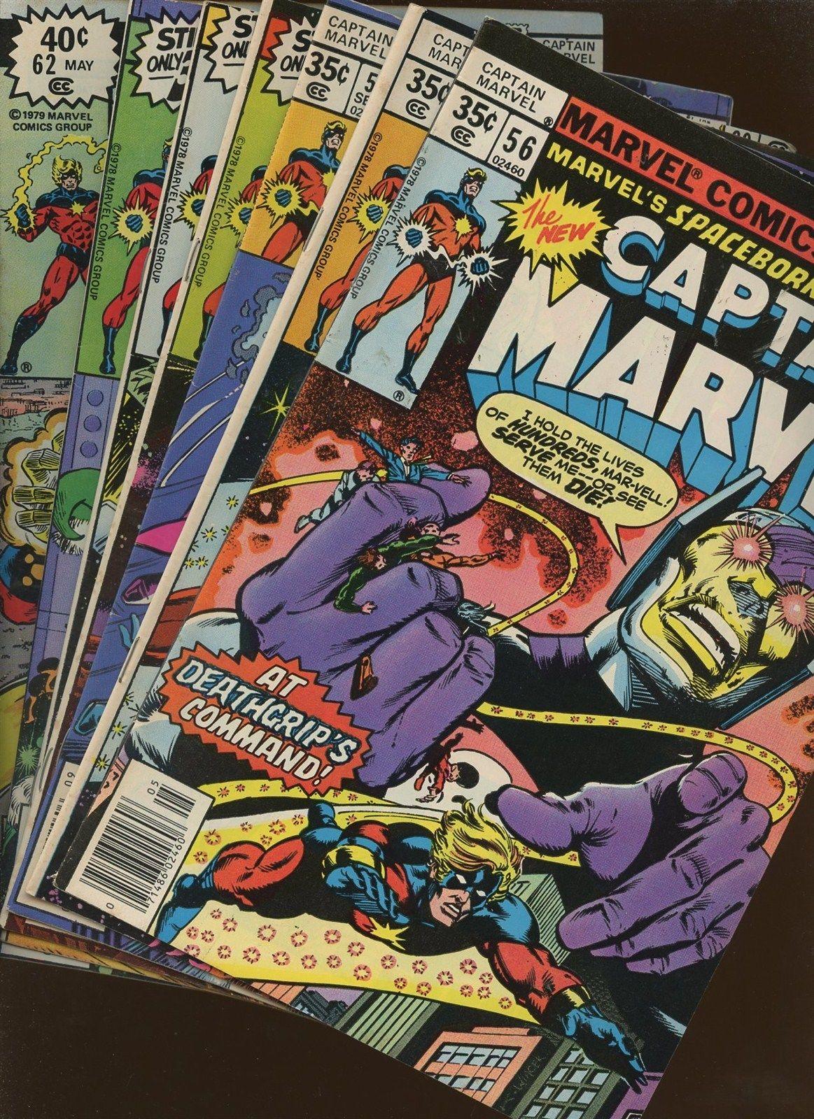 Captain Marvel 56,57,58,59,60,61,62   Bronze Age 7 Book Lot 1st Chaos