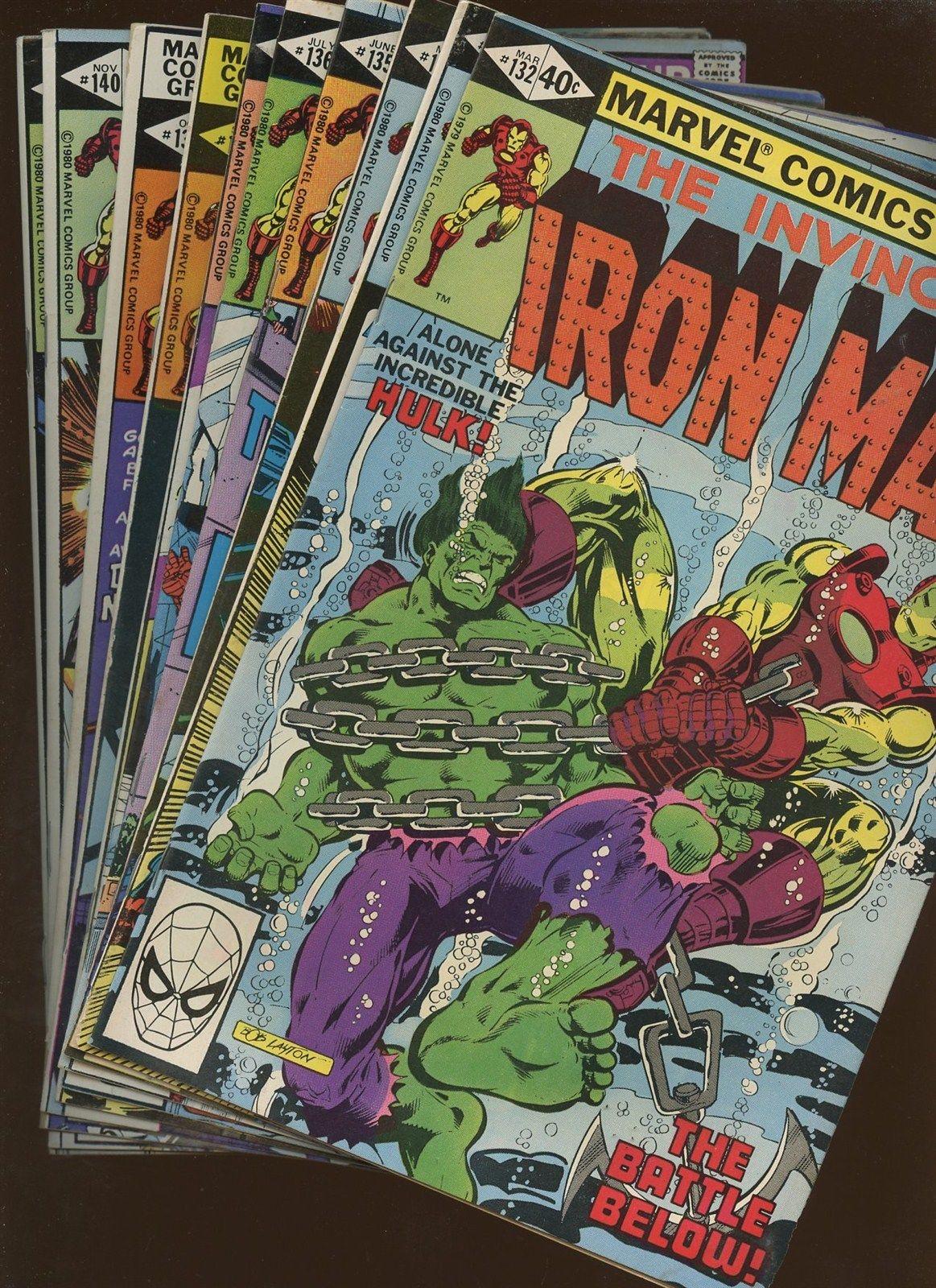 Iron Man 132,133,134,135,136,137,138,139,140,141   Bronze Age 10 Book Lot