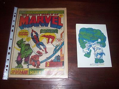 Mighty World of Marvel 1 with HULK Transfer + issues 2 and 3