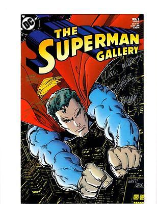 The Superman Gallery #1 (1993) Signed Adams Swan Perez - 6 Autographs #2247/5000