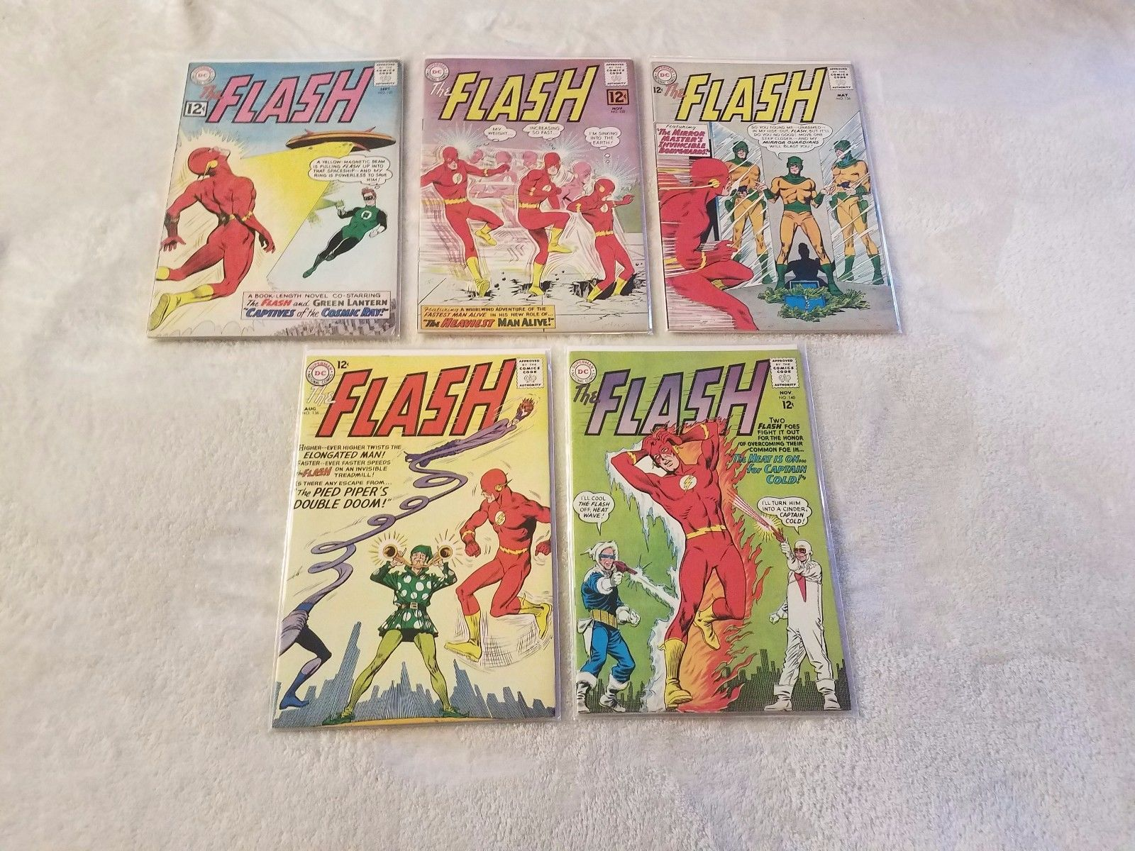 The Flash #131 #132 #136 #138 #140 (Sep 1962,DC) *Silver Age Lot*Key*