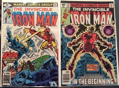 Iron Man 122,124,126,127,129 (1979 Marvel Comics) five issue lot NM
