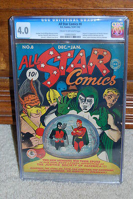 All Star Comics #8 CGC 4.0 DC 1941 1st Wonder Woman Justice League cm