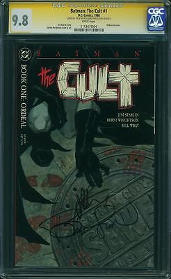Batman: The Cult #1 CGC 9.8 SS-Signed by Wrightson & Starlin -1st Print-DC Key