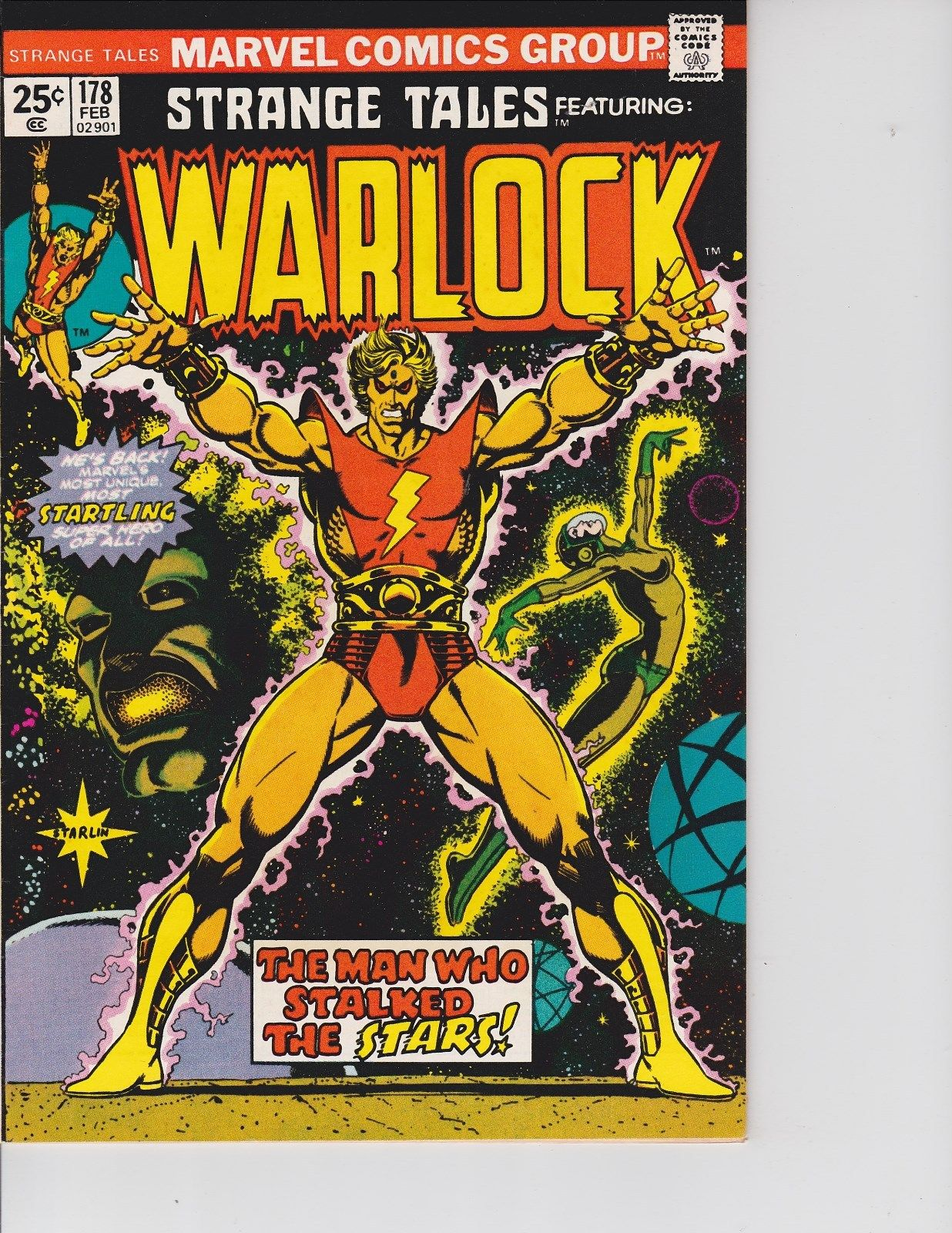 Strange Tales  #178 ( Warlock & Him Origin Relold  VF+  8.5 ) Feb-1975,  Marvel