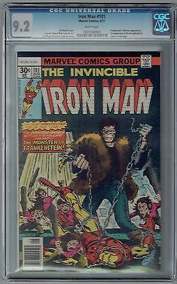 INVINCIBLE IRON MAN #101 CGC 9.2 NM- WP VS. FRANKENSTEIN MARVEL COMICS 1977