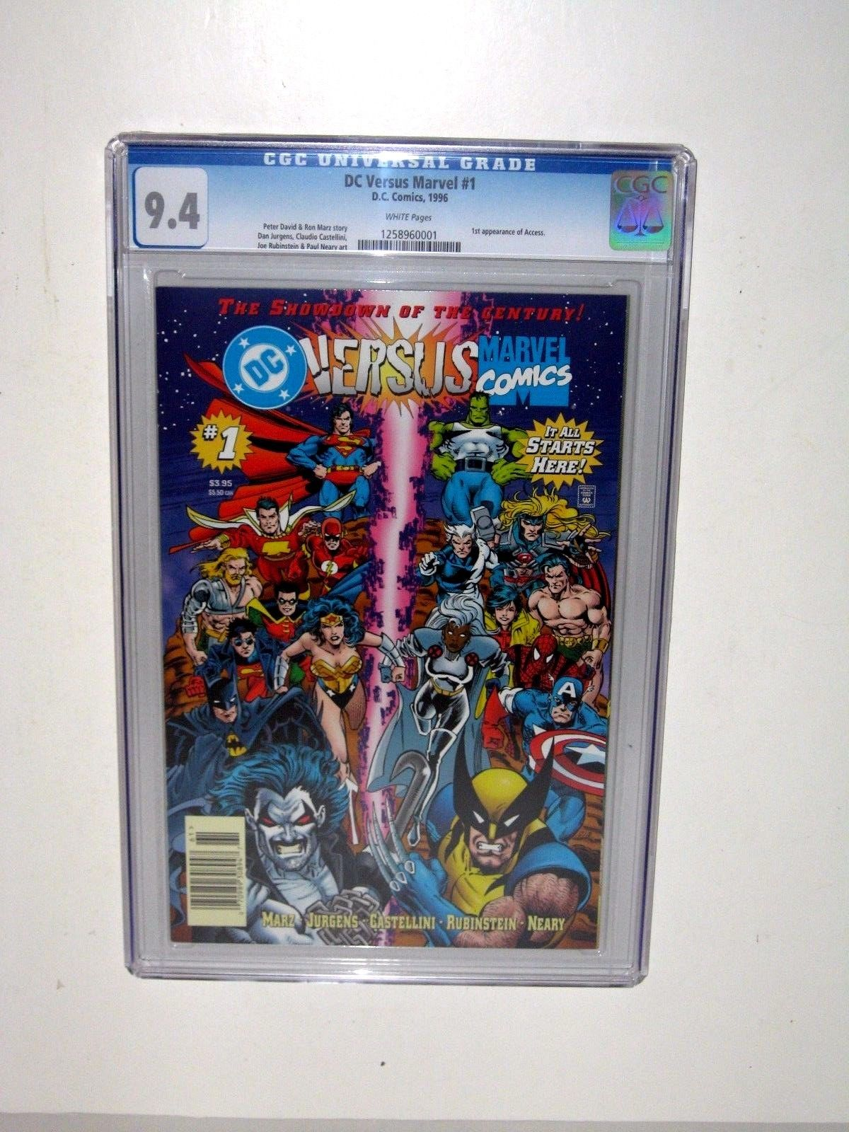 DC Versus Marvel / Marvel Versus DC #1 (Feb 1996, DC) CGC Rated 9.4