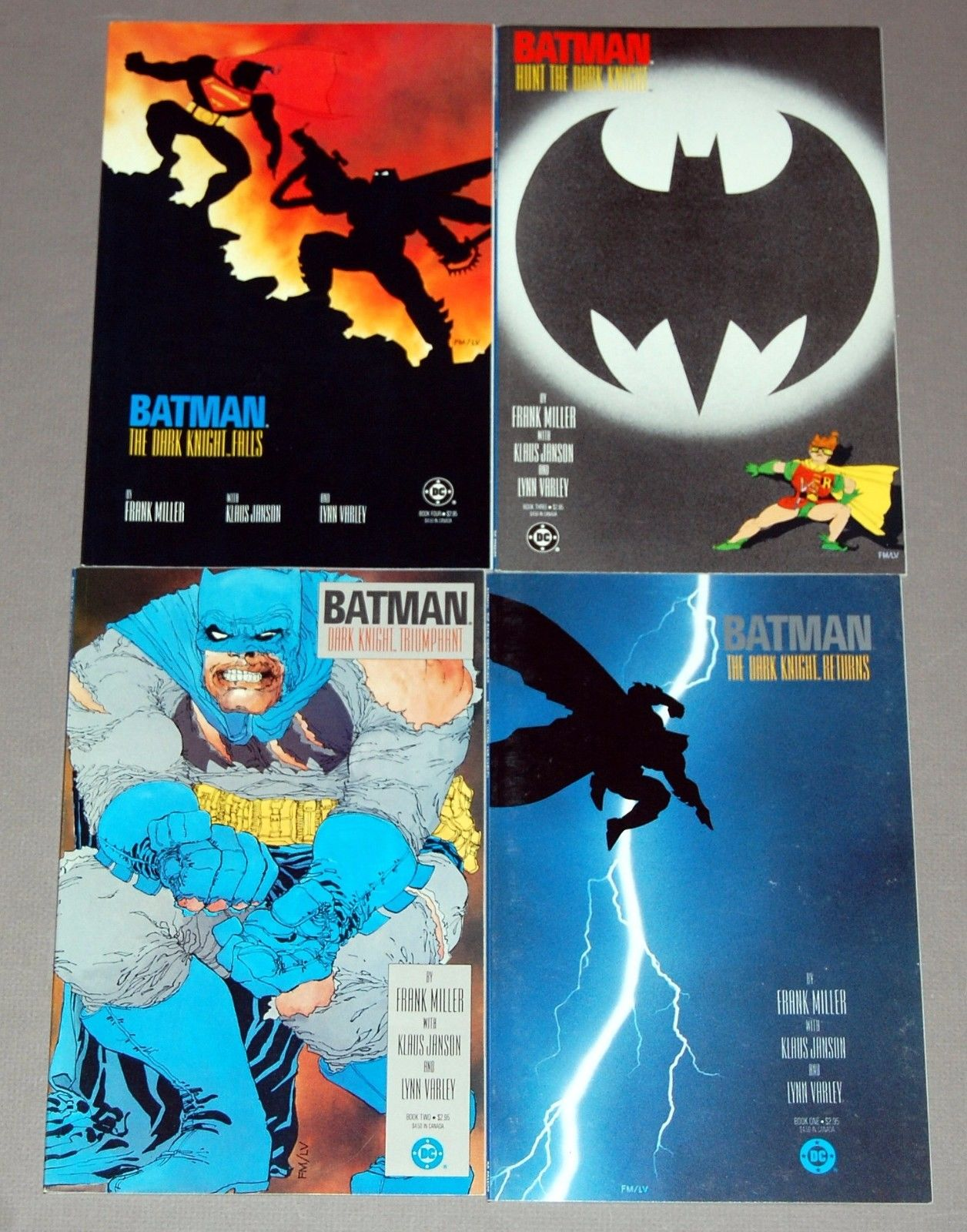 BATMAN The Dark Knight Returns FRANK MILLER #1 2 3 4 Set Graphic Novel TPB Comic
