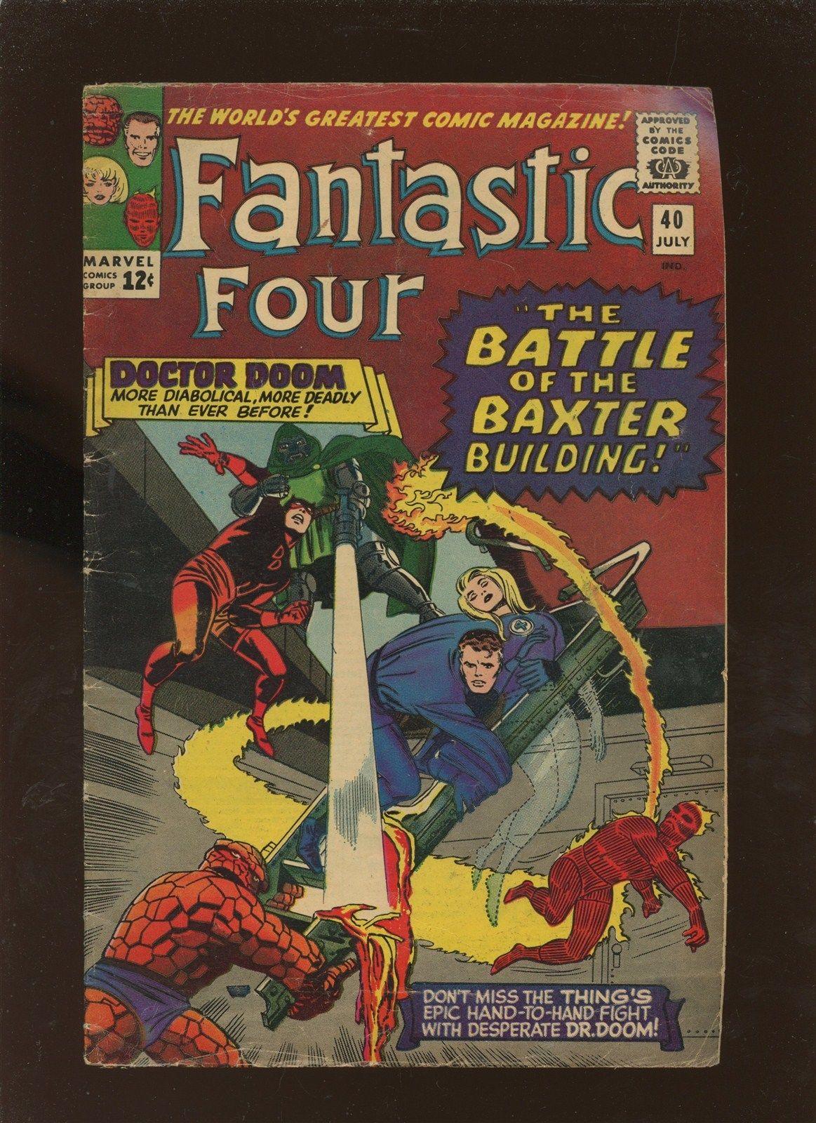 Fantastic Four 40 VG 4.0 * 1 Book Lot * Dr Doom & Thing Reborn