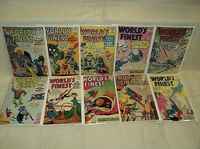 World's Finest 111-120 SET Solid Batman, Superman 1960-1961 DC Comics (s 8778)