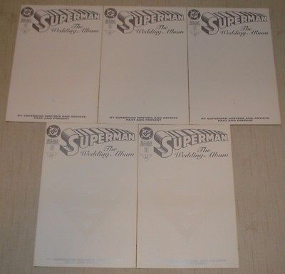 Superman The Wedding Album Blank Sketch Cover Dealer Wholesale Lot of 5 Copies