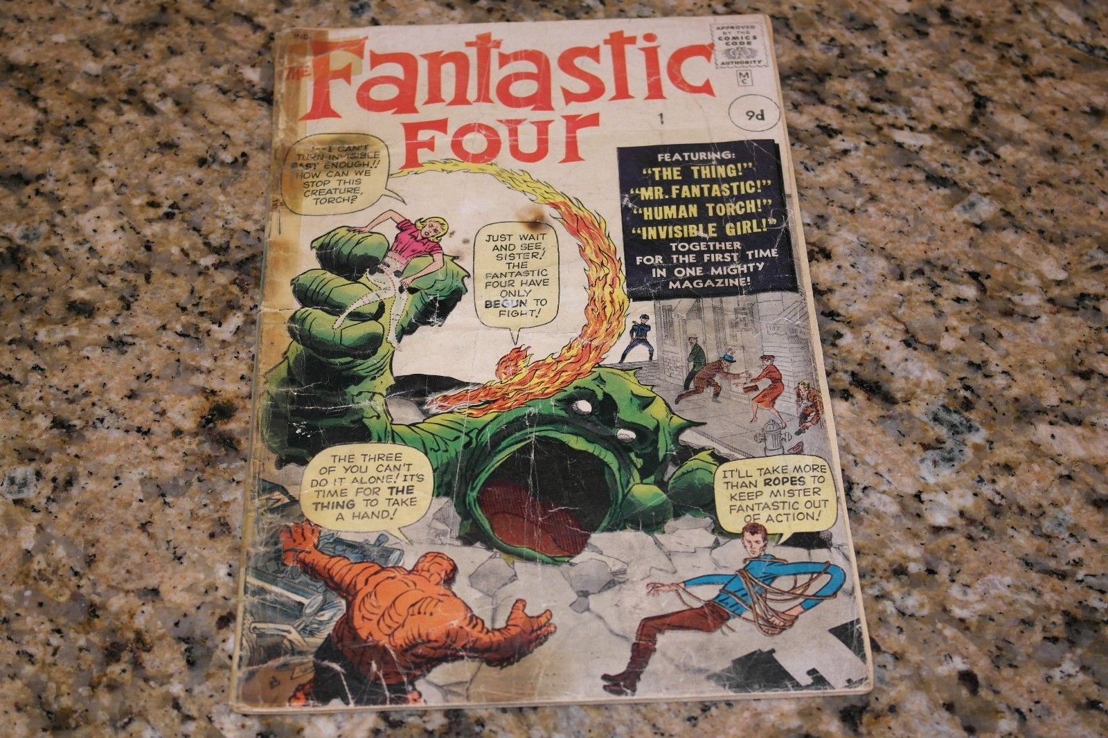 Fantastic Four #1 (Nov. 1961, Marvel) 1st App. Fantastic Four, Silver Age RARE