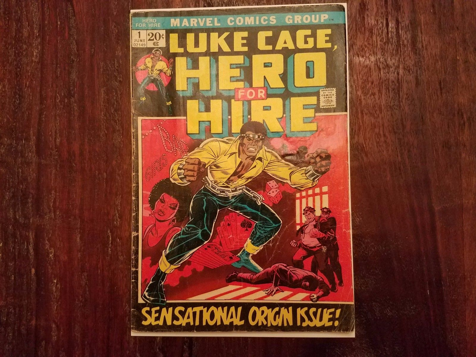 LUKE CAGE, HERO FOR HIRE #1 (Marvel 1972) - Origin Issue Netflix - Power Man